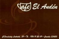 CAFE EL ANDEN 20€