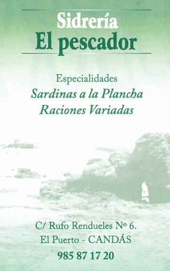 SIDRERIA EL PESCADOR 40€